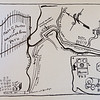 Hand drawn directions with a map of Westleigh Farms in Peru, Indiana, that Kate Porter, Cole Porter's mother, would send to guests at her parties.<br /> Kelly Lafferty Gerber | Kokomo Tribune
