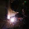 Derek Miller uses a stick welder to practice his welding beads during welding class at Maconaquah High School on Oct. 24, 2019.<br /> Tim Bath | Kokomo Tribune
