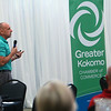 Mayor Greg Goodnight gives updates on developments and happenings in the Kokomo community at the Greater Kokomo Chamer of Commerce Business Matters luncheon on Oct. 10, 2019. <br /> Tim Bath | Kokomo Tribune