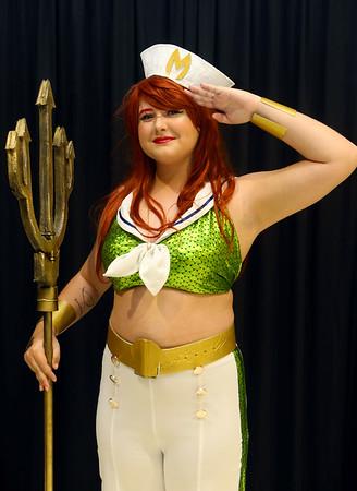 Isabella Eisaman from Peru as Bombshell Mera at Kokomo-Con on Saturday, October 12, 2019.<br /> Kelly Lafferty Gerber | Kokomo Tribune