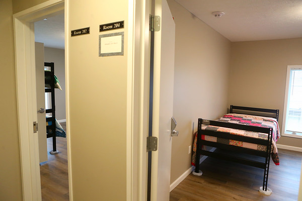 Some of the bedrooms upstairs at Kokomo Rescue Mission's Watered Garden, its new women's shelter on 319 W. Taylor Street on Wednesday, October 30, 2019.<br /> Kelly Lafferty Gerber | Kokomo Tribune