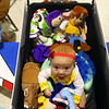 5-month-old Quinn Dyer, dressed as Jessie from Toy Story, sits among the rest of the toys in a custom-made Buzz Lightyear rocketship during the Kids Community Halloween Party at the Kokomo Event Center on Saturday, October 26, 2019.<br /> Kelly Lafferty Gerber | Kokomo Tribune