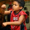8-year-old Joshua Merriweather practices his manuevers at IronFist Boxing Club on Wednesday, October 16, 2019.<br /> Kelly Lafferty Gerber | Kokomo Tribune