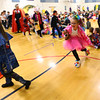 Eastern Elementary School students parade through the halls in front of each other and their parents dressed in Halloween costumes on Oct. 31, 2019.<br /> Tim Bath | Kokomo Tribune
