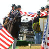 """The American flag is folded over the casket of Indiana State Trooper Peter """"Bo"""" Stephan, who was laid to rest at Russiaville Cemetery on Friday, October 18, 2019. Stephan died Oct. 11 in a car crash on Old Indiana 25 southwest of Americus. He was responding to a call when he lost control of his car.<br /> Kelly Lafferty Gerber 