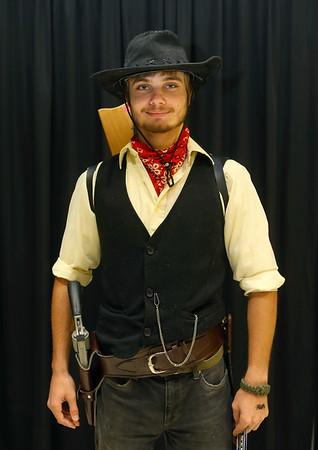 Jarrod Steers from Kokomo as a cowboy at Kokomo-Con on Saturday, October 12, 2019.<br /> Kelly Lafferty Gerber   Kokomo Tribune