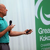 Mayor Greg Goodnight gives updates on developments and happenings in the Kokomo community at the Greater Kokomo Chamer of Commerce Business Matters luncheon on Oct. 10, 2019. <br /> Tim Bath   Kokomo Tribune