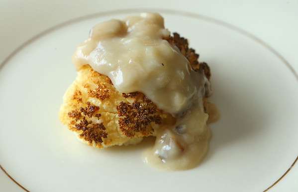 Vegan Thanksgiving-Gravy over cauliflower turkey<br /> Kelly Lafferty Gerber | Kokomo Tribune