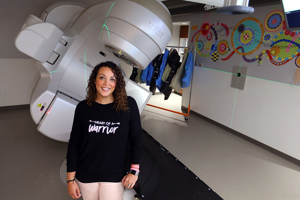 Cindy Hendrix in the St. Vincent Cancer Center on Oct. 9, 2019. This newest addition to the treatment facility is where Cindy spent 28 days getting radiation treatments.<br /> Tim Bath   Kokomo Tribune