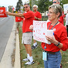 Kokomo Schools teachers picket in front the school administration building on south Washington during contract negotiations on Thursday Oct. 10, 2019. <br /> Tim Bath | Kokomo Tribune