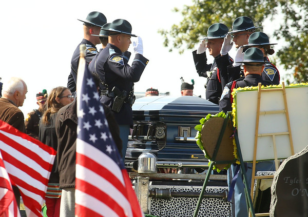 """Indiana State Trooper Peter """"Bo"""" Stephan was laid to rest at Russiaville Cemetery on Friday, October 18, 2019. Stephan died Oct. 11 in a car crash on Old Indiana 25 southwest of Americus. He was responding to a call when he lost control of his car.<br /> Kelly Lafferty Gerber 