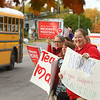 Jennifer Yoder, a paraprofessional at Head Start, rallies alongside Kokomo Teachers Association members and supporters outside of the Kokomo School Corporation Administrative Services Center during the second round of contract negotiations on Thursday, October 24, 2019.<br /> Kelly Lafferty Gerber | Kokomo Tribune