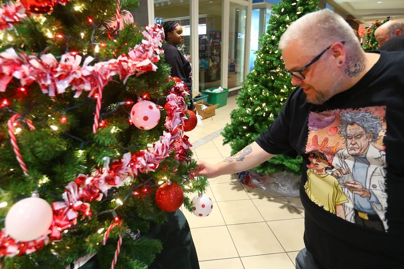 We Care Trim-A-Tree setup at Markland Mall on Sunday Oct. 27, 2019. Tim Bath   Kokomo Tribune