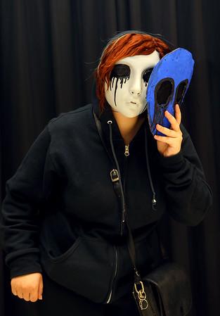 Jadus Hayden from Kokomo as Eyeless Jack from Creepy Pasta at Kokomo-Con on Saturday, October 12, 2019.<br /> Kelly Lafferty Gerber | Kokomo Tribune