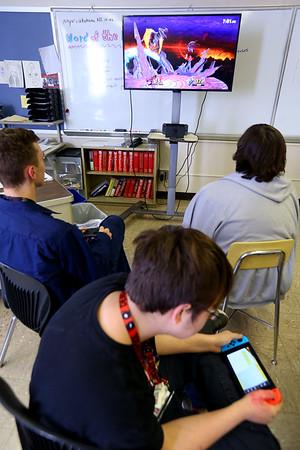 The student participate in the Gaming club at Kokomo High School on Oct. 8, 2019. <br /> Tim Bath | Kokomo Tribune