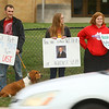 Kokomo Teachers Association members and supporters rallied outside of the Kokomo School Corporation Administrative Services Center during the second round of contract negotiations on Thursday, October 24, 2019.<br /> Kelly Lafferty Gerber | Kokomo Tribune