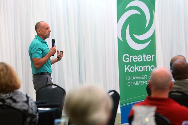 Mayor Greg Goodnight gives updates on developments and happenings in the Kokomo community at the Greater Kokomo Chamer of Commerce Business Matters luncheon on Oct. 10, 2019. <br /> Tim Bath | Kokomo Tribune