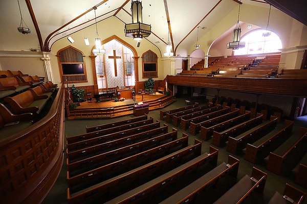 As a part of their 150th Anniversary celebration Grace United Methodist Church allowed people to come in tour the church and ring the bell.<br /> Tim Bath | Kokomo Tribune