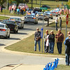"Community members show their support along the procession route in Russiaville for Indiana State Trooper Peter ""Bo"" Stephan on Friday, October 18, 2019. Stephan died Oct. 11 in a car crash on Old Indiana 25 southwest of Americus. He was responding to a call when he lost control of his car.<br /> Kelly Lafferty Gerber 