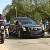 """Flanked by police escort, the hearse nears the Russiaville Cemetery, where Indiana State Trooper Peter """"Bo"""" Stephan was laid to rest on Friday, October 18, 2019. Stephan died Oct. 11 in a car crash on Old Indiana 25 southwest of Americus. He was responding to a call when he lost control of his car.<br /> Kelly Lafferty Gerber 