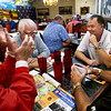 The Indiana Basketball Hall of Fame regional meeting at Martino's on Oct. 3, 2019. Basil Mawbey tells a basketball story to Phil Burgan, Jim Rayl and Brian Cossell before lunch starts.<br /> Tim Bath   Kokomo Tribune