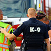 Kokomo firefighters work to free the passenger of a van that was seriously injured at Ind. 26 and 250 East on Saturday afternoon Sept. 28, 2019. The guy was flown via helicopter to the hospital and later died. KPD's Chad VanCamp was close enough to the accident that he heard the collision. Although he was first on the scene he walked around to all the first responders checking on their well being.<br /> Tim Bath | Kokomo Tribune
