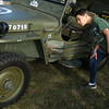 Isaac Warman and the other Tri-Central 8th grade students get a first hand look at a WWII era Jeep on Sept. 19, 2019.<br /> Tim Bath   Kokomo Tribune