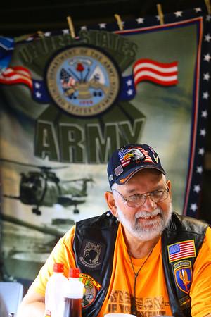 Army veteran Michael Zarembski from Orland Park Illinois at the Vietnam Veterans Reunion on Saturday morning Sept. 21, 2019.<br /> Tim Bath | Kokomo Tribune