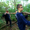 Tri-Central 8th graders spent the morning cleaning up the nature trail on the west part of the school property on Sept. 27, 2019. <br /> Tim Bath | Kokomo Tribune