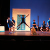 Mamma Mia! being performed by Kokomo Civic Theatre at IUK's Havens Auditorium on Sept. 20-22. Dress rehearsal on Sept. 16, 2019. The island guys sing to Sophie the day before her wedding.<br /> Tim Bath | Kokomo Tribune