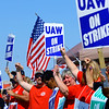 Multiple unions comprising of hundreds of people came together Friday Sept. 19, 2019, to rally around the striking picketers from local 292 who work at the Kokomo GM Component Holding facility along Indiana 931. <br /> Tim Bath | Kokomo Tribune