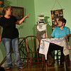 """""""Terms of Endearment,"""" being performed at the Ole Olsen Theatre in Peru from Sept. 26 - 29, 2019. Emma Horton and husband Flap Horton in a heated argument. They are played by Samantha Grudzien and Jordan Kenyon respectively. <br /> Tim Bath 