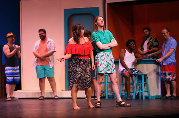 Mamma Mia! being performed by Kokomo Civic Theatre at IUK's Havens Auditorium on Sept. 20-22. Dress rehearsal on Sept. 16, 2019.<br /> Tim Bath | Kokomo Tribune