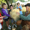 Frank Jarbo from Bowling Green, Kentucky, portrays a poor man named Ould Badger who is Oaken out of Junk that was used for stuffing between boat planks or slats in a house. Over a thousand 4th graders participate in Koh-Koh-Mah & Foster Living History Encampment on Sept. 20, 2019. The event is open to the public on Saturday and Sunday at 9912 West, 100 South, Russiaville.<br /> Tim Bath | Kokomo Tribune