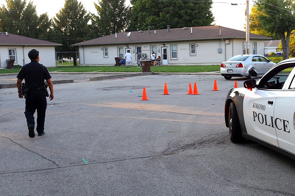 Five people have been arrested after a shootout and high speed chase on Monday evening September 2, 2019. A red Ford F150 truck was finally stopped in the 600 block of south Jay where 3 were detained. Later one in the 800 block of East King and finally the 5th at Vaile and Ohio. Three guns and a bag of drug were also recovered at 3 different locations.<br /> Tim Bath | Kokomo Tribune