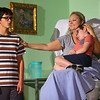 """""""Terms of Endearment,"""" being performed at the Ole Olsen Theatre in Peru from Sept. 26 - 29, 2019. Emma Horton played by Samantha Grudzien lays sick in bed with her kids being comforted by her. The kids are played by Miguel Sebastian and Karter Gilliand.<br /> Tim Bath 