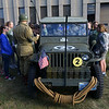 Students get a first hand look at a WWII era Jeep on Sept. 19, 2019.<br /> Tim Bath   Kokomo Tribune