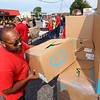 Food Finders, United Way and UAW 292 teamed up to get a food truck for striking GM workers on Sept. 27, 2019. Jovan Prostell volunteered his time to give out food to fellow UAW 292 members in the parking lot of North Central Outdoor Power.<br /> Tim Bath | Kokomo Tribune