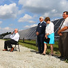 The Tipton Solar Park on 31 acres along Indiana 28 was dedicated with Dick Klein from the Tipton Utility Service Board talking about the project on Sept. 30, 2019. The 17,496 panels produce just over 5 1/4 megawatts of energy.<br /> Tim Bath | Kokomo Tribune