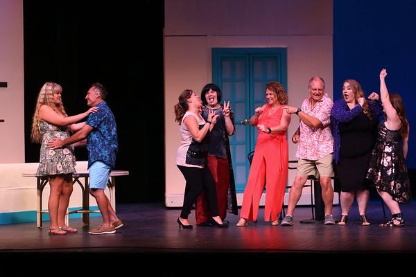 Mamma Mia! being performed by Kokomo Civic Theatre at IUK's Havens Auditorium on Sept. 20-22. Dress rehearsal on Sept. 16, 2019.<br /> Tim Bath   Kokomo Tribune