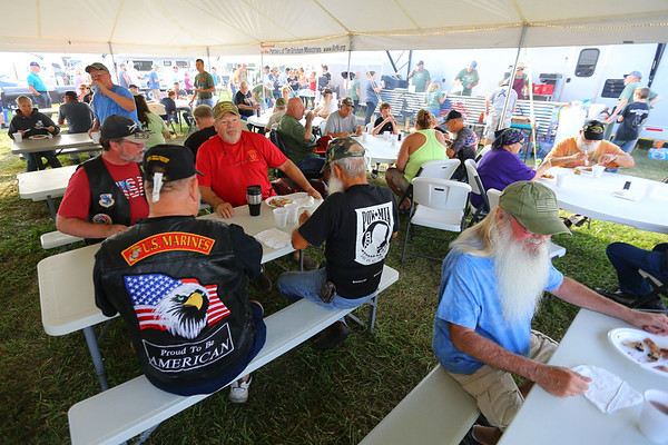 A Free meal at the Vietnam Veterans Reunion on Saturday morning Sept. 21, 2019.<br /> Tim Bath | Kokomo Tribune