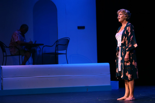 Mamma Mia! being performed by Kokomo Civic Theatre at IUK's Havens Auditorium on Sept. 20-22. Dress rehearsal on Sept. 16, 2019.<br /> Tim Bath | Kokomo Tribune