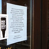 Half Moon Restaurant and Brewery on Thursday, April 2, 2020. The Kokomo establishment is closed due to government regulations and public safety as a result of Covid-19.<br /> Kelly Lafferty Gerber   Kokomo Tribune