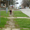 The sidewalks on Mulberry Street from Apperson Way to Purdum Street, shown here on Wednesday, April 1, 2020, will be resurfaced.<br /> Kelly Lafferty Gerber | Kokomo Tribune