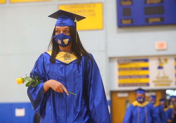 Tri-Central High School graduation on Saturday, August 1, 2020.<br /> Kelly Lafferty Gerber   Kokomo Tribune