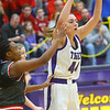 2-15-20<br /> Northwestern vs Fishers girls basketball regional semi-final<br /> Kendall Bostic throws a pass.<br /> Kelly Lafferty Gerber | Kokomo Tribune