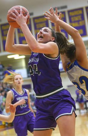 2-15-20<br /> Northwestern vs Homestead girls basketball regional championship<br /> Kendall Bostic rebounds and puts up a shot.<br /> Kelly Lafferty Gerber | Kokomo Tribune