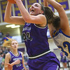 2-15-20<br /> Northwestern vs Homestead girls basketball regional championship<br /> Kendall Bostic rebounds and puts up a shot.<br /> Kelly Lafferty Gerber | Kokomo Tribune