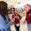 Six Primrose Retirement Community residents handed out Hershey bars and Amazon gift cards at IUK on Monday February 17, 2020. Rachel Arens and Adysan Herron thank Glenn Grundman after he handed them the gift.<br /> Tim Bath | Kokomo Tribune