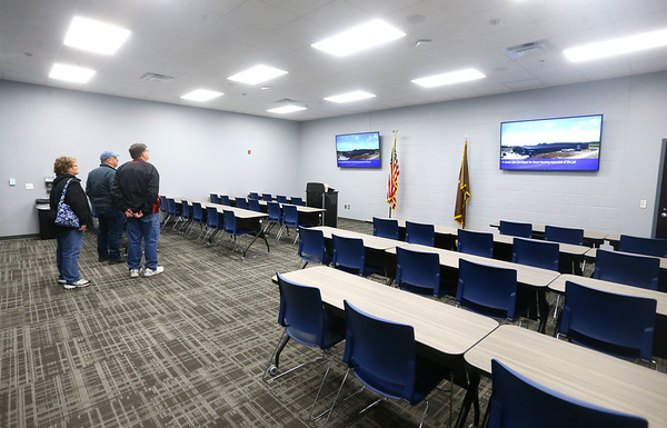 Members of the public check out the training room on the administration side of the new Tipton jail during a public open house on Thursday, Feb. 20, 2020.<br /> Kelly Lafferty Gerber | Kokomo Tribune